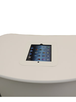 White Ipad holder