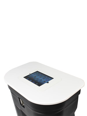 Zenith White Table Top with iPad holder